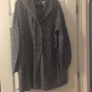 Long gray comfy sweater